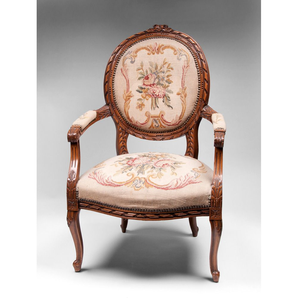 ribbon carved louis xv fauteuil or armchair needlepoint. Black Bedroom Furniture Sets. Home Design Ideas