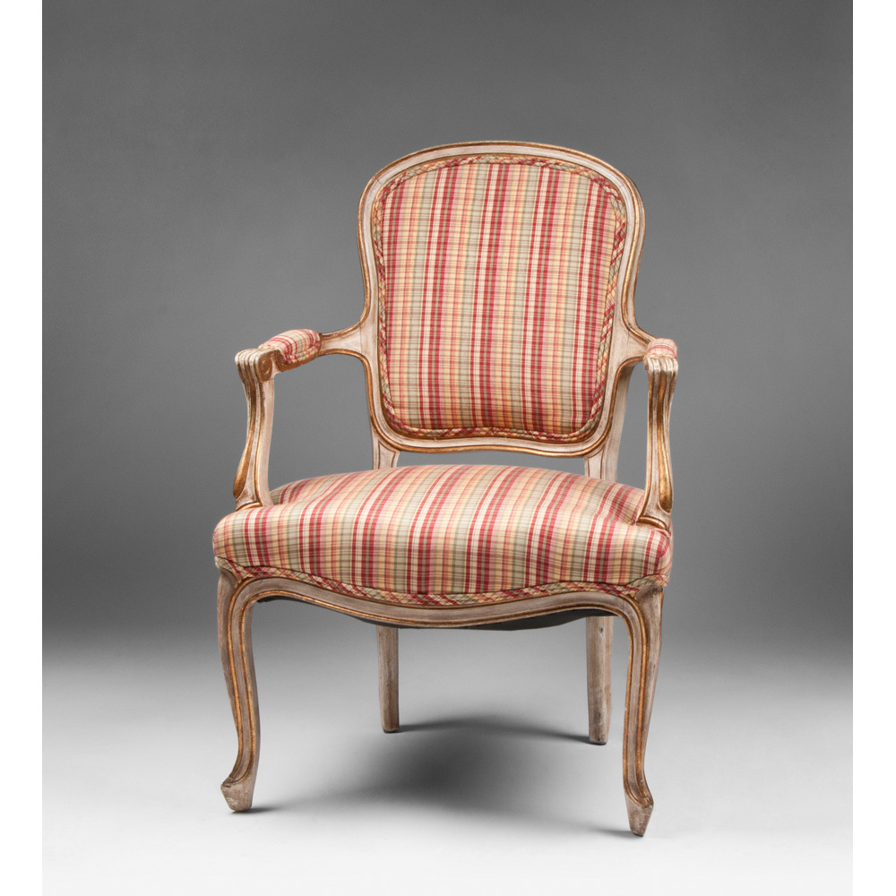 louis xv painted fauteuil or armchair from piatik on ruby lane. Black Bedroom Furniture Sets. Home Design Ideas