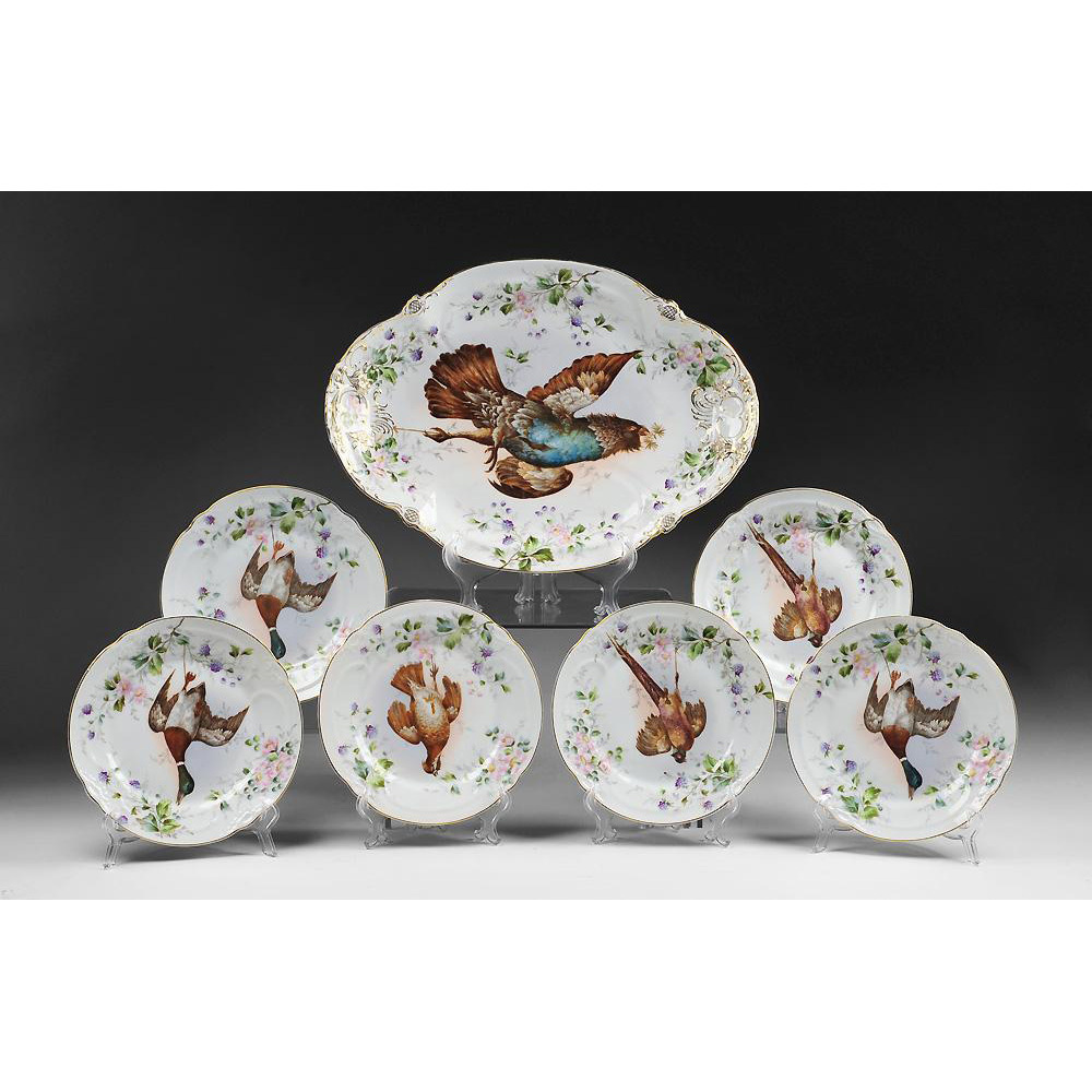 Karlsbad Handpainted Game Bird Set, 7 Pieces