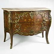 Mid 19th C. Louis XV Kingwood Commode, Manner Of Joseph-Emmanuel Zwiener