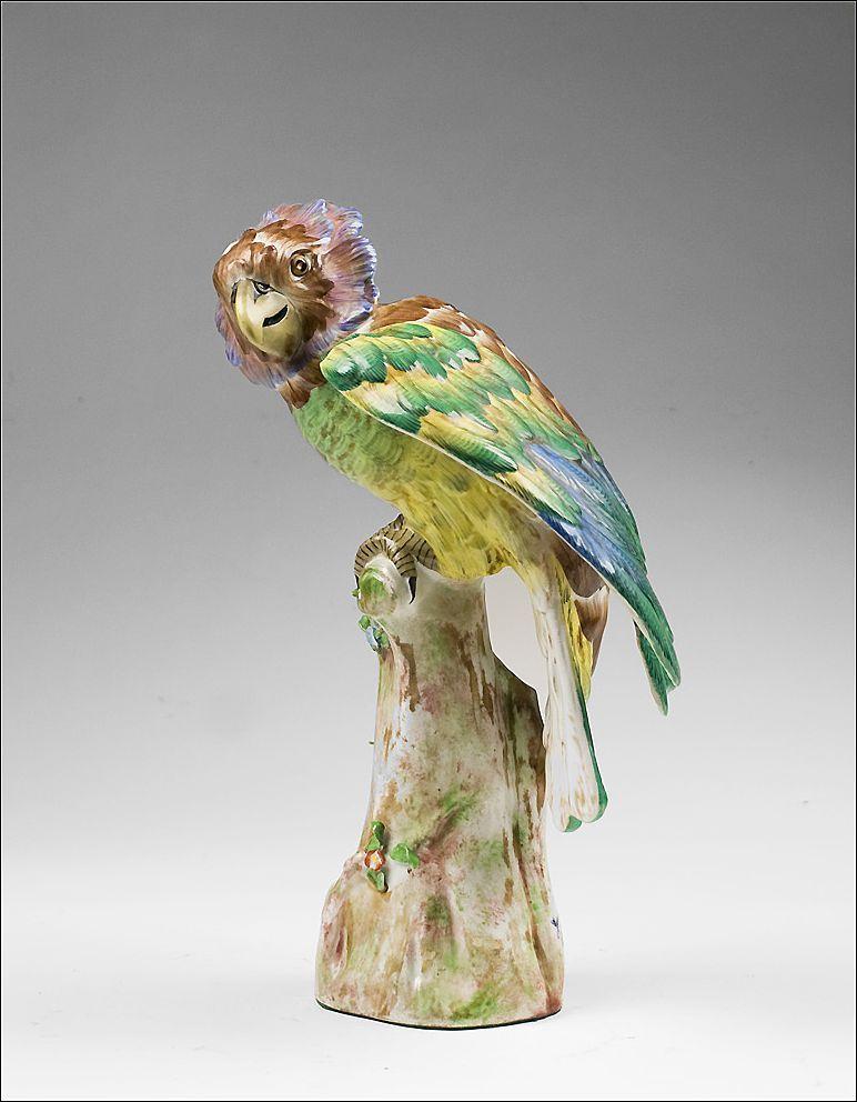 Porcelaine De Paris Hand Painted Model of a Parrot