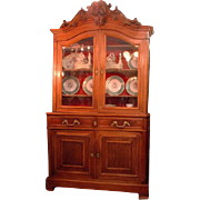 French Provincial 19th C. Buffet a deux Corps Cabinet
