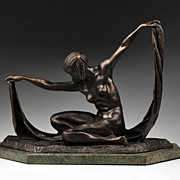 Isis Bronze Sculpture After Claire Jeanne Roberte Colinet - Red Tag Sale Item