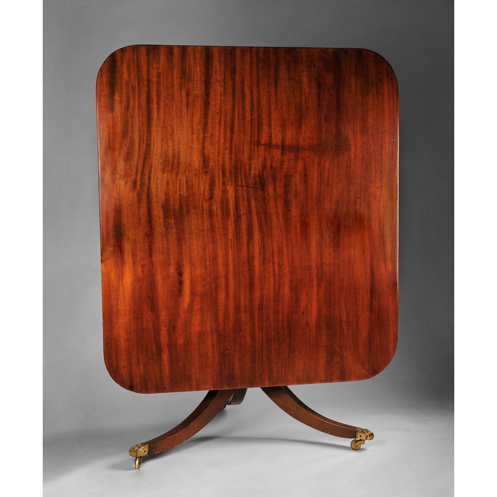 19th Century English Mahogany Tilt Top Breakfast Table