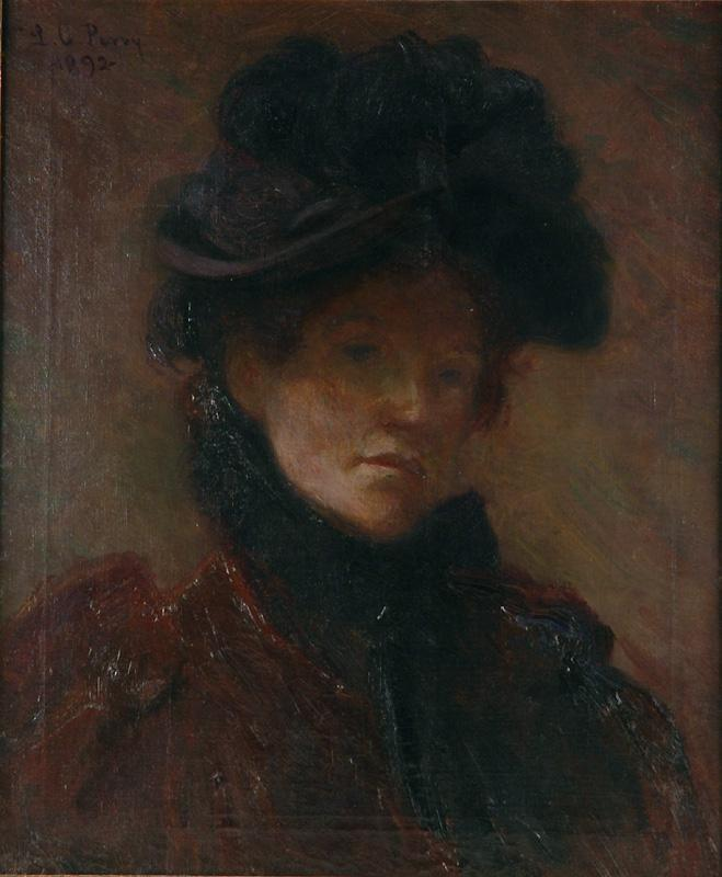 Lilla Cabot Perry O/C Self Portrait, 1892
