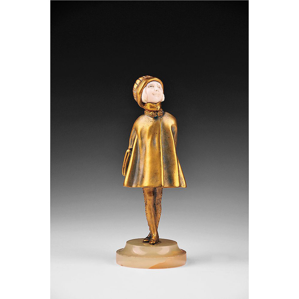 Chryselephantine Sculpture of Girl by Demetre Chiparus, 1920's