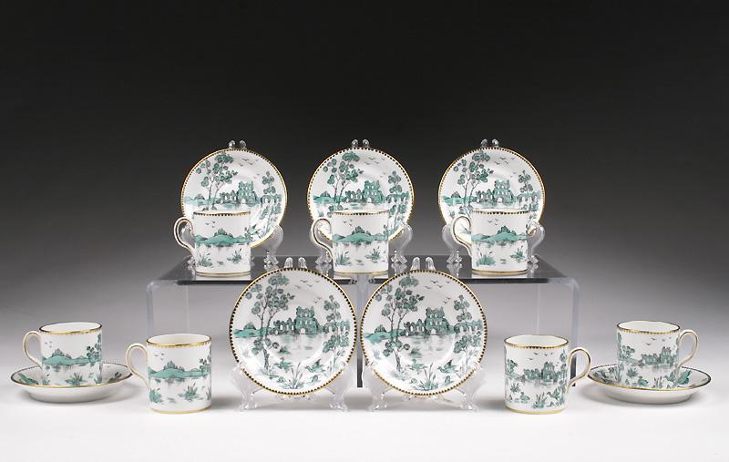 Royal Chelsea Demitasse Cups & Saucers (7)