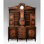 Late 19th C. French Vaisselier With Clock