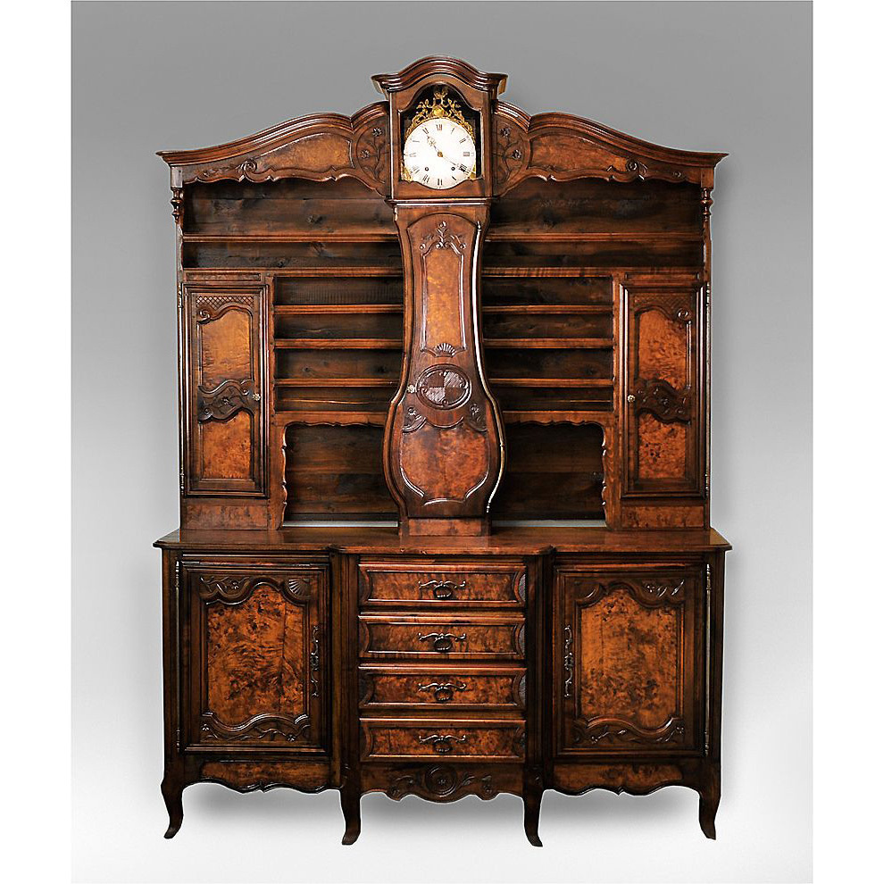 late 19th c french vaisselier with clock from piatik on. Black Bedroom Furniture Sets. Home Design Ideas