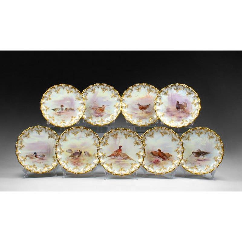 9 Royal Doulton Named Bird Plates for Tiffany & Company