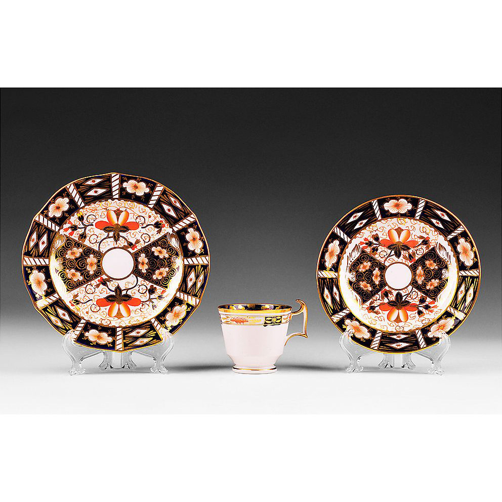 Royal Crown Derby Trio Set, 1921-1970