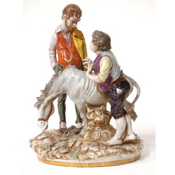 Signed Italian Porcelain Ginori Signed Figure