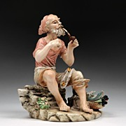 Italian Porcelain Figure of Fisherman