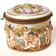 Richard Ginori Capodimonte Style Box