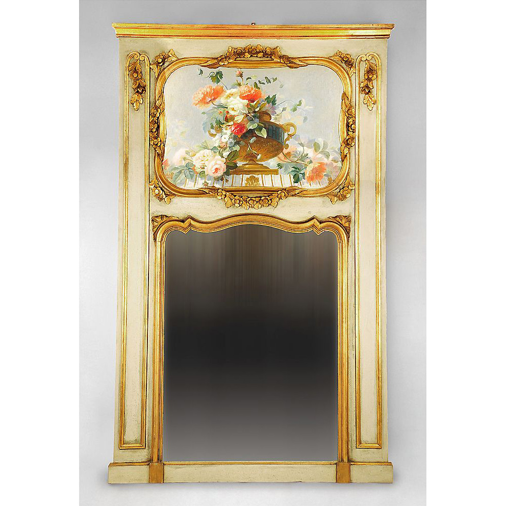 Belle Epoque French Trumeau Mantle Mirror