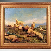 Oil on Board Bucolic Landscape by Francois Auguste Bonheur