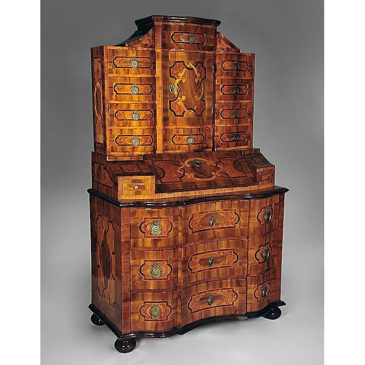 18th c baroque tabernacle secretary bureau commode from piatik on ruby lane. Black Bedroom Furniture Sets. Home Design Ideas