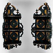 Victorian Aesthetic Movement Ebonized Corner Shelves By Schastey