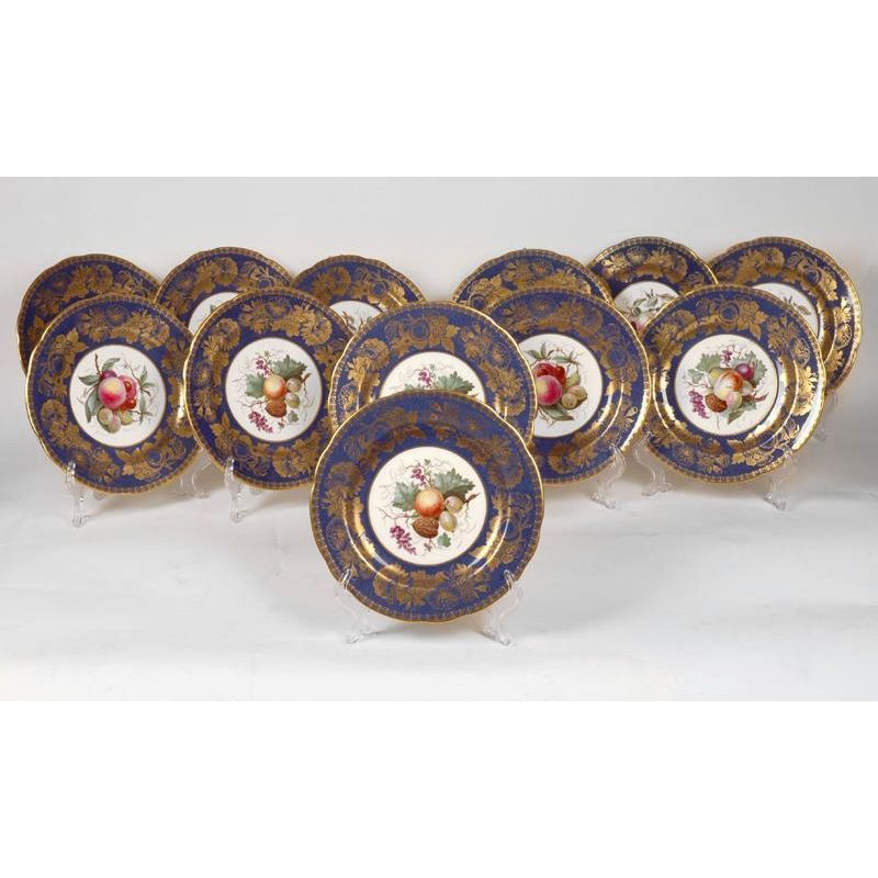 Davis Collamore & Co. Fruit Plates by Spode Copelands China (12)