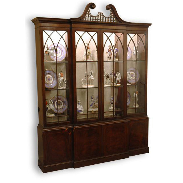 Vintage Baker Mahogany Breakfront China Cabinet - Vintage Baker Mahogany Breakfront China Cabinet SOLD On Ruby Lane
