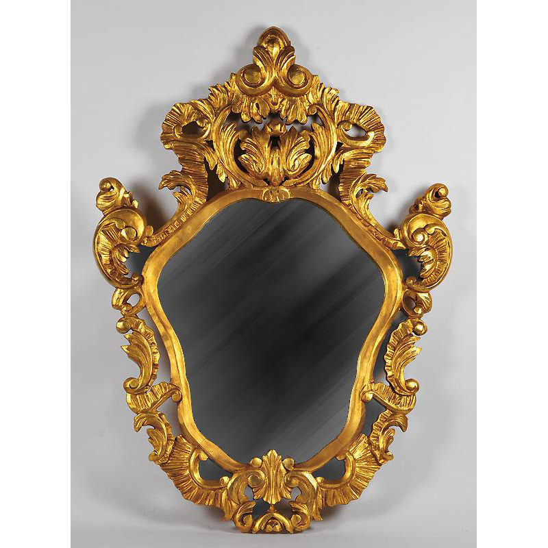 Giltwood Pierced Carved Italian Wall Mirror
