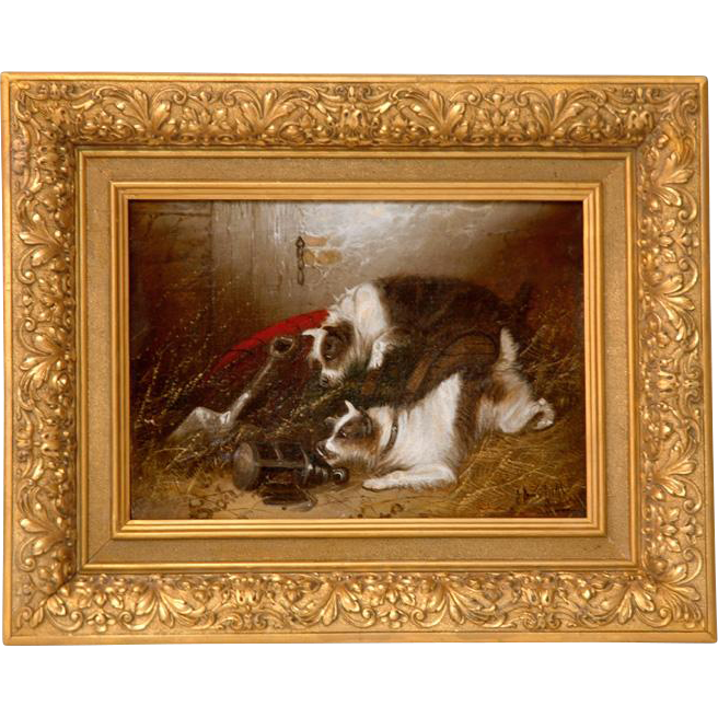 19th C. Edward Armfield O/C Two Terriers