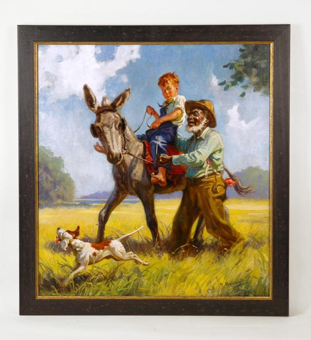 Original Oil Painting by Henry Hy Hintermeister, Illustration Art