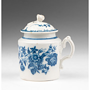 18th C. Caughley Pot de Crème or Custard Pot With Cover