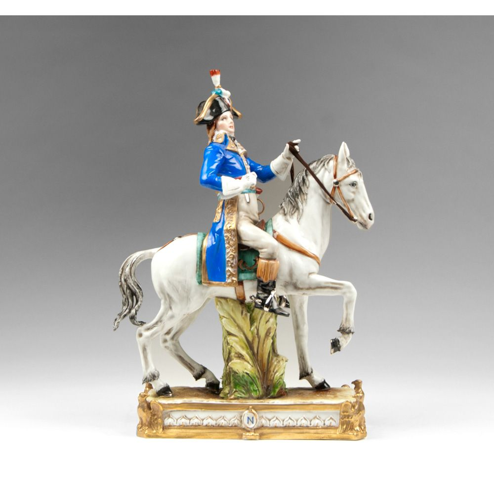 Italian Porcelain Figurine Of Mounted Napoleonic General