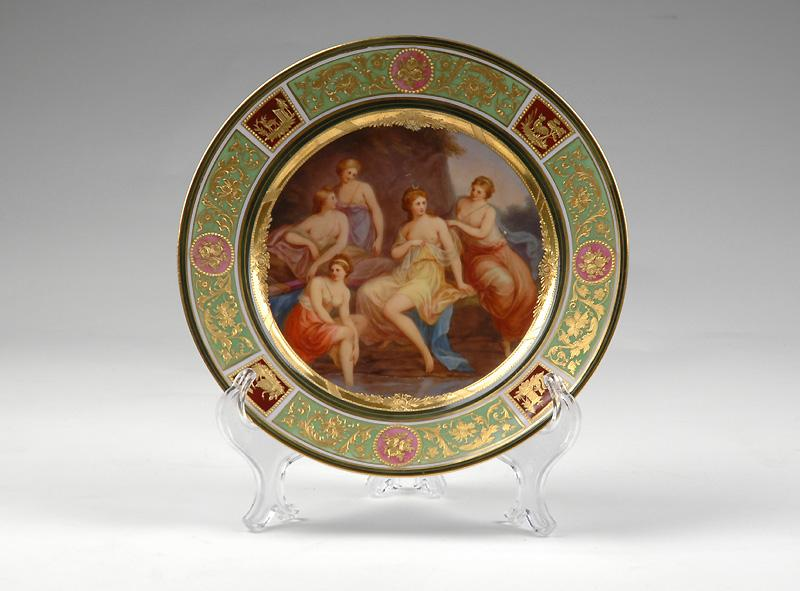 Royal Vienna Style Hand Painted Cabinet Plate