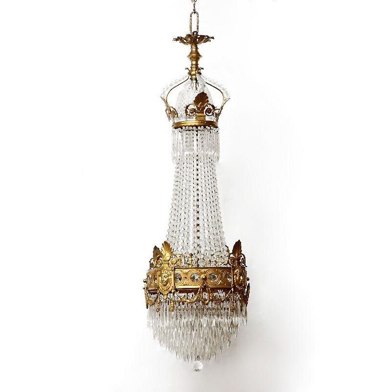 French Empire Bronze and Crystal Chandelier from piatik on Ruby Lane – French Empire Chandelier