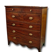 American Federal Period Chest of Drawers
