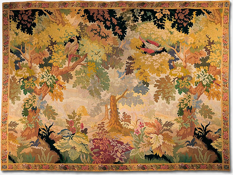 Late 19th Century French Pastoral or Verdure Woven Tapestry