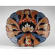 Oval Lobed 19th C. Japanese Meiji Imari Platter