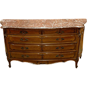 19th C. Louis XV French Provincial Commode with Marble Top