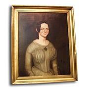 Oil Painting Portrait of Bebe Tresure 1843 By John Chandler Green