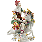 19th C. Samson Porcelain Figurine of Europa and The Bull