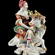 19th C. Samson Porcelain Figurine of Europa and The Bull