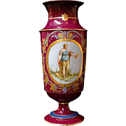 19th Century Paris Porcelain Second Empire Neoclassical Vase