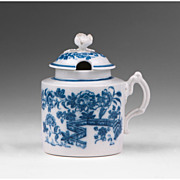 18th C. Caughley Wet Mustard Pot With Cover