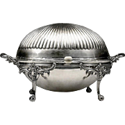 English Silver Plate Rollover Breakfast Serving Dish, Spurrier & Company