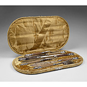 Bailey Banks & Biddle 19th C. Fish Carving Set with Case