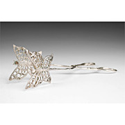 Sterling Silver Butterfly Tongs