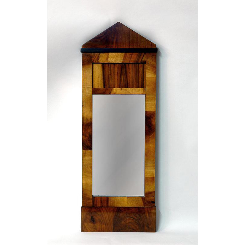 19th C. Biedermeier Rosewood Mirror