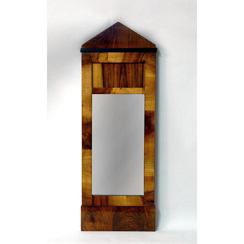 19th C. Biedermeier Rosewood Mirror