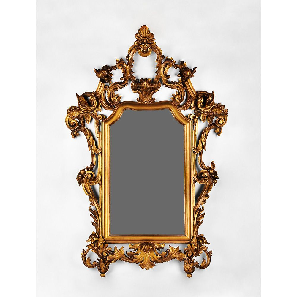 Early 19th Century Hand Carved Italian Giltwood Rococo Mirror