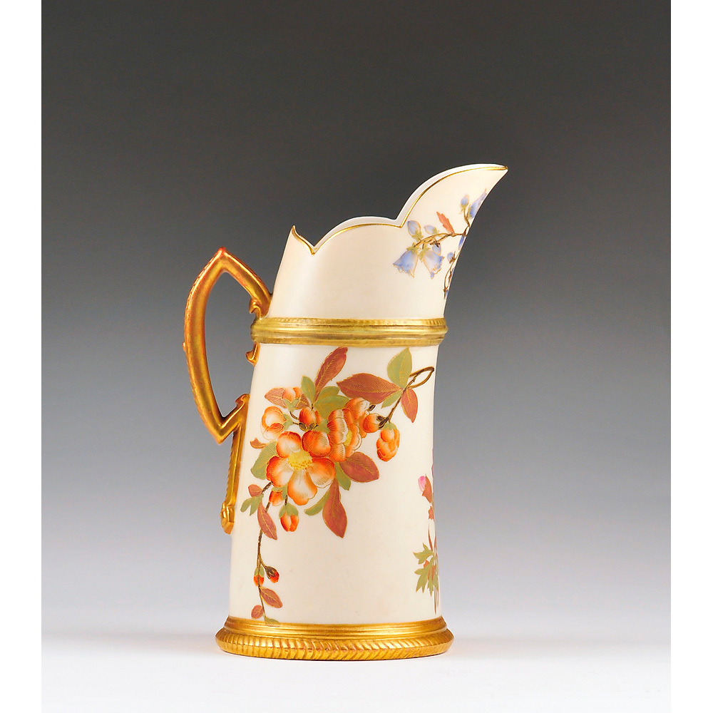 Royal Worcester Blush Ivory Tusk Jug