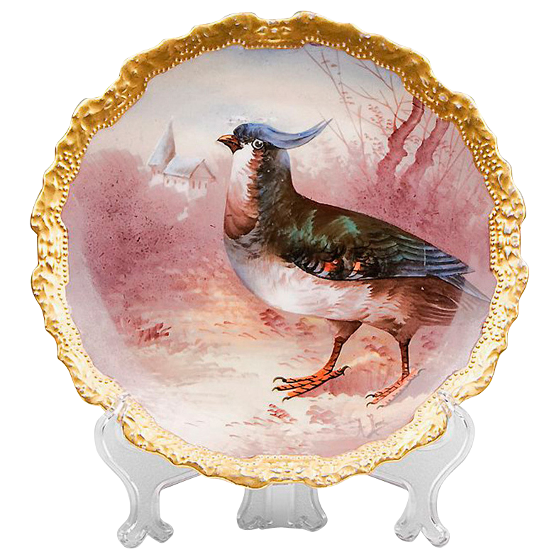 Coronet Limoges Hand Painted Game Bird Plate