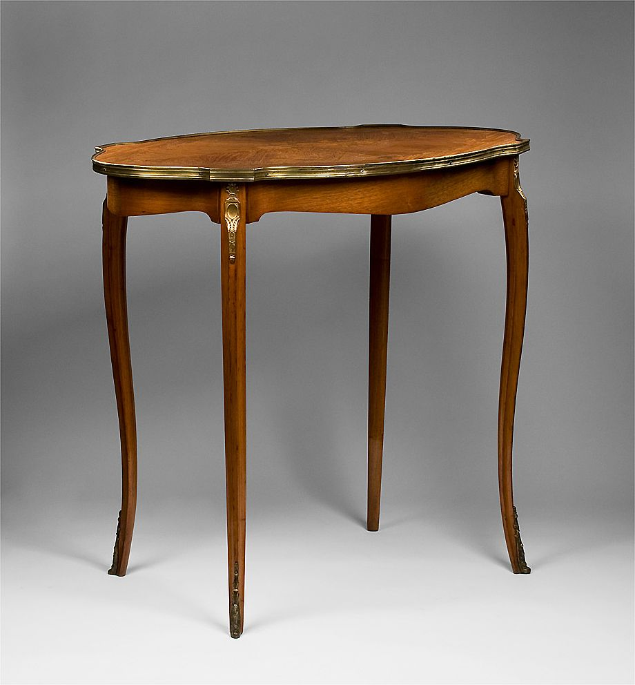 Louis XV Style Satinwood Inlaid Center Table from piatik on Ruby Lane