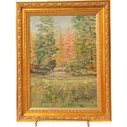 Impressionist Oil On Board by Hamilton
